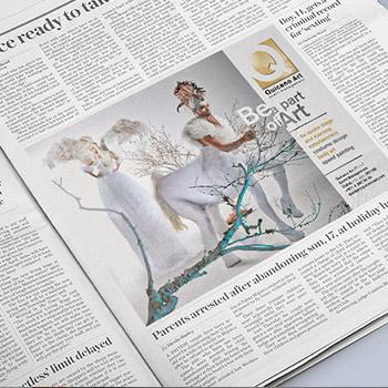 QArt Newspaper Ad